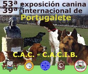cartel exposicion canina portugalete 2018
